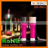 SORBO OEM Factory Cheaper Plastic Wine Bottle Stoppers with LED Light Electric Mini Stopper Light for Bottle China Supplier