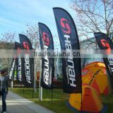 knitted type fiberglass pole material outdoor advertising promotion feather teardrop flag and banner