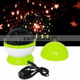High quality Rotation projector lamp/Star Sky Romantic Night Projector Light/ Rotating luminous Dream night light.