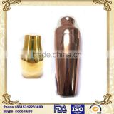 Stainless steel traditional cocktail drink bottle, copper plating, including vibrating screen and cap ZD20160323 S825