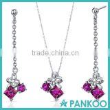 Butterfly 925 silver high quality set diamond jewelry