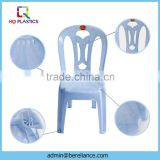 Blue Plastic Chairs for Restaurants without Arm