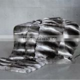 Factory Direct Sale Luxurious Genuine Chinchilla Fur Rex Rabbit Fur Pelts for Vest