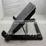 black plastic laptop stand and cooling pad with 2 fans and stand holder