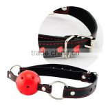 Mouth Ball Gag Harness Bondage Restraints Adult Sex Toy Leather Strap FEEL GOOD