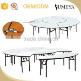 Hotel furniture modern simple design stainless steel luxury folding dining table and chair