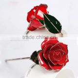 Precious Gift Items 30cm Real Rose Flower Foiled in 24K Gold Packed in Nice Designed Gift Box and Bag