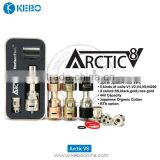 Christmas Gift New Horizon Tech Arctic Trubo Tank Dual Coil Arctic V8 tank With Rose Golden Color