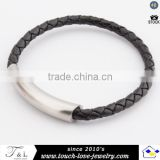 new arrival leather bracelet parecord magnet clasp bracelet