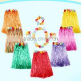 Yiwu Factory direct sale 40cm hawaii straw skirt, hawaii style dress(AM-HWD03)