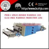PWJM-1 Nonwoven Spray-Bonded Waddings and Glue-Free Waddings Production Line