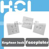 For the Installation of Keystone Jacks 1/ 2/ 4-Port Faceplates