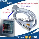360-1200w output power diode laser hair removal 808nm ce approved diode laser handle parts