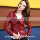 women leather jacket 2014 women's clothing biker motorcycle jackets leather coat