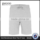 MGOO Hot Sale Raw Hem Sport Shorts Mens French Terry Cotton Shorts Plain Side Pockets Sweat Pants