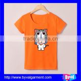 Children clothes printed t-shirts girls t shirt kids cotton breathable t shirt custom printing