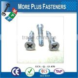 Hex Washer Head Or Round Head Phil Recess Self Drilling Screw Flat CSK Head Phil Recess Self Drilling Screw
