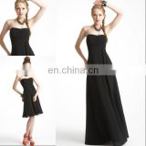 HC2286 Sexy black strapless sleeveless removable skirt A-line gathered chiffon top different style cheap korean style prom dress