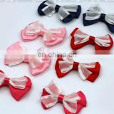 DOUBLE LAYERS BOWKNOT DOUBLE COLORS BOWKNOT WAITER GROOM MARRIAGE TIE