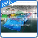 Customized 50m Long Inflatable Bottom Slide The City , Giant Slide For Event