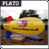 Yellow rc blimp, commercial helium airship, outdoor inflatable zeppelin