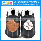 Toddler Boys Genuine Leather Soft Sole Blue Baseball Shoes,Kids Boy Baseball Slippers