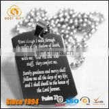 Item Necklace Stainless steel Ball Chain Prayer Memorial Dog tags