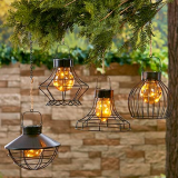 Handing Umbrella Lights Solar Lanterns Outdoor Waterproof LED Candle Decorated