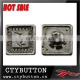 CTY-ZY053 plain metal buttons