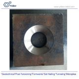 Domed washer/Anchor plate / flat and domed plate/ bearing plate square used for thread bar
