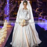 Abiti da sposa 2016 A Line Long Sleeve Lace Wedding Dress Winter Lace Bridal Gown Scoop Zipper Vestido novia