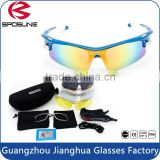 Supper lightweight TR frame top quality sport eyewear professional cycling glasses with replaceable lenses