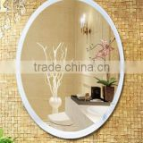 modern metal framed round shaped wall hanging decorative bathroom mirror