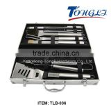 TLB-036 wholesales Stainless steel professional BBQ skewer tools