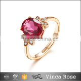 wholesale latest garnet 18k gold finger ring designs gold plating 925 sterling silver rings
