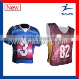 sublimation lacrosse reversible jerseys for hot selling