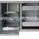 Stainless steel BBQ components cabinet for outdoor kitchen/outdoor storage cabinet