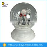 Mini christmas air blown inflatable Glass snow globe For Sale