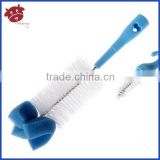 Novel Blue Cleaning Brush for Water Bottle Sponge Bottle Cleaning Brush with Long Handle Baby Feeding Bottle Clean Brushes