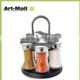 cruet salt and pepper bottle bbq spice jar wholesale with metal lid,bbq sauce bottle