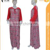 100% rayon maxi dress,long dress, muslim throbe with lace