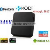 M8S Android Smart TV Box Amlogic S812 Chip 4K 2G/8G XBMC KODI 15.2 Dual band wifi Full HD Android 4.4 Media Player M8 TV Box