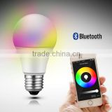 ce rohs ul smart e27 bulb & new product bulb smart & led glow ball light rgb color changing