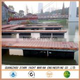 Hot dipped galvanized steel frame floating dock