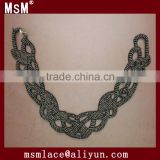 Cotton crochet collar lace with beads for sale