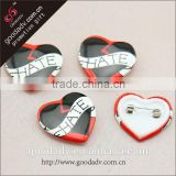Fashion accessories pin badges cheap souvenir heart shaped pin badges                                                                         Quality Choice
