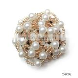 2014Beatiful pearl beads flower brooch for wedding invitations