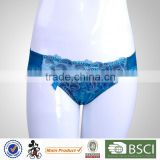 Customized Comfortable Unique Design Young Lady Blue Womens Panties For Men
