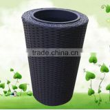 balcony rattan furniture small plastic flower pot