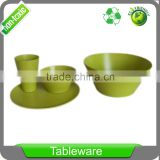 Biodegradable Eco Friendly Bamboo Fiber dinnerware large 10 inch round salad serving bowl set in gift box